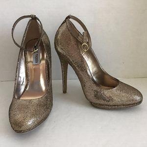 Steve Madden Adelea Metallic Gold Stiletto Shoes